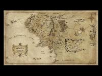 Карта средиземья (кинофильмы Хоббит и Властелин Колец)