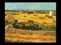 Винсент Ван Гог. Урожай в Ла Кро, и Монмажор на заднем плане (репродукция)
