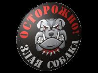 Табличка злая собака 006